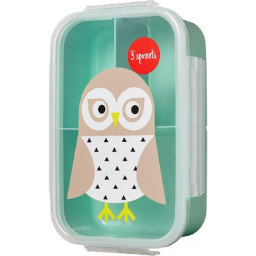 3Sprouts Δοχείο Φαγητού Lunch Bento Box Owl IBBOWL
