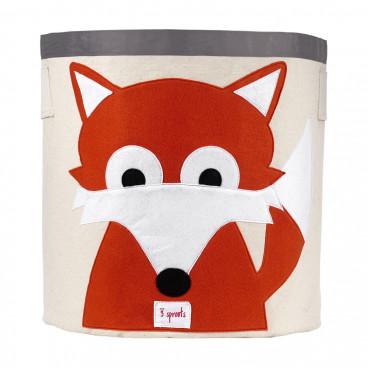 3Sprouts Καλάθι Στρόγγυλο Για Τα Παιχνίδια Fox IBNFOX