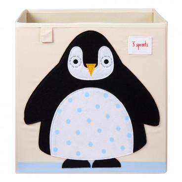 3Sprouts Καλάθι Τετράγωνο Για Τα Παιχνίδια Penguin IBXPEN