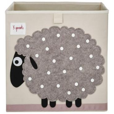 3Sprouts Καλάθι Τετράγωνο Για Τα Παιχνίδια Sheep IBXSHP