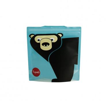 3Sprouts Θήκες Για Σάντουιτς 2Τμχ. Bear ISWBEA