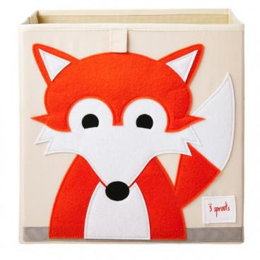 3Sprouts Καλάθι Τετράγωνο Για Τα Παιχνίδια Fox IBXFOX