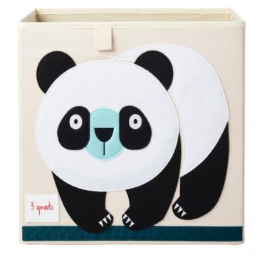 3Sprouts Καλάθι Τετράγωνο Για Τα Παιχνίδια Panda IBXPND
