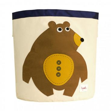 3Sprouts Καλάθι Στρόγγυλο Για Τα Παιχνίδια Bear IBNBEA