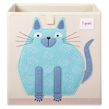 3Sprouts Καλάθι Τετράγωνο Για Τα Παιχνίδια Cat IBXCAT