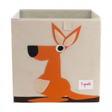 3Sprouts Καλάθι Τετράγωνο Για Τα Παιχνίδια Kangaroo IBXKAN