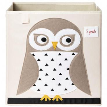 3Sprouts Καλάθι Τετράγωνο Για Τα Παιχνίδια Owl IBXOWL