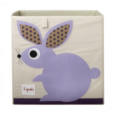3Sprouts Καλάθι Τετράγωνο Για Τα Παιχνίδια Rabbit IBXRAB