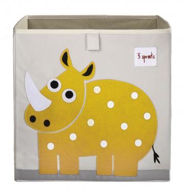 3Sprouts Καλάθι Τετράγωνο Για Τα Παιχνίδια Rhino IBXRHN
