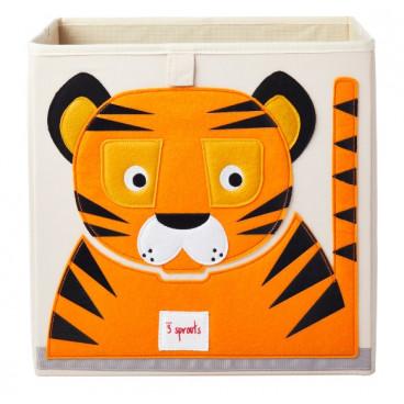 3Sprouts Καλάθι Τετράγωνο Για Τα Παιχνίδια Tiger IBXTIG