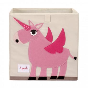 3Sprouts Καλάθι Τετράγωνο Για Τα Παιχνίδια Unicorn IBXUNI