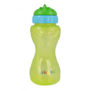 Akuku Εκπαιδευτικό Ποτηράκι Με Καλαμάκι Green A0135-2