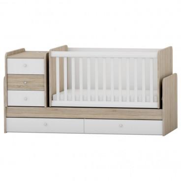 Arbor Κρεβάτι Κούνια Μετατρεπόμενο Oak Sonoma White BJSW218