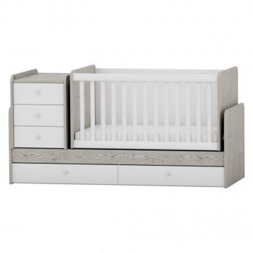 Arbor Κρεβάτι Κούνια Μετατρεπόμενο Oak White BJHW218