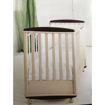 07620bd6bd9 Baby Expert Kρεβάτι Crystal Sbiancato Wenge