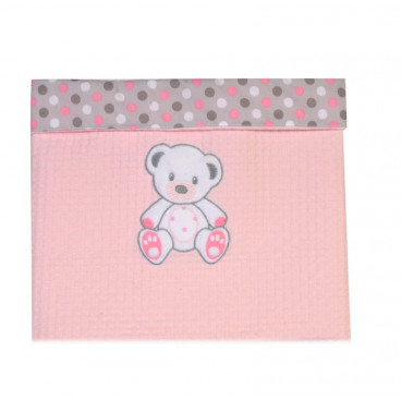 Baby Star Κουβέρτα πικέ μεγάλη χρωματιστή με φάσα sweet dots