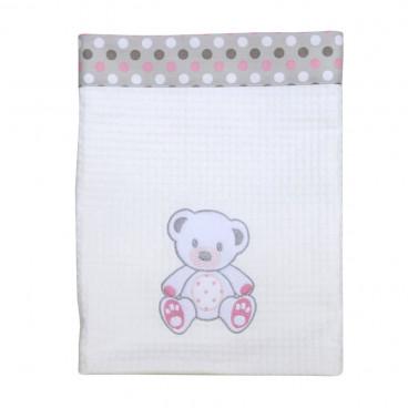 Baby Star Κουβέρτα πικέ μεγάλη με φάσα sweet dots