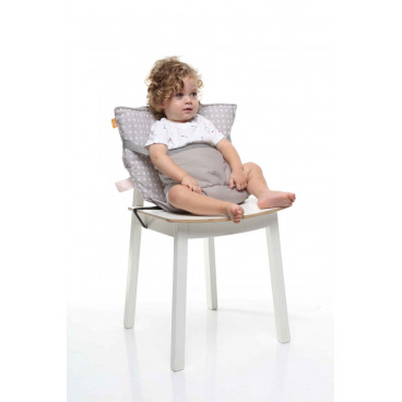 Baby To Love Καρεκλάκι Φαγητού Καρέκλας Pocket Chair Γκρι Αστέρια 301736