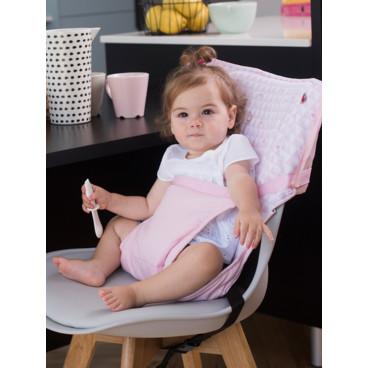 Baby To Love Καρεκλάκι Φαγητού Καρέκλας Pocket Chair Ροζ Καρδιές 302030