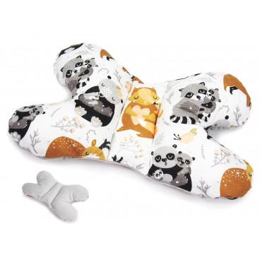 Babycute Παιδικό Μαξιλαράκι Αυχένα Grey Raccoon B103