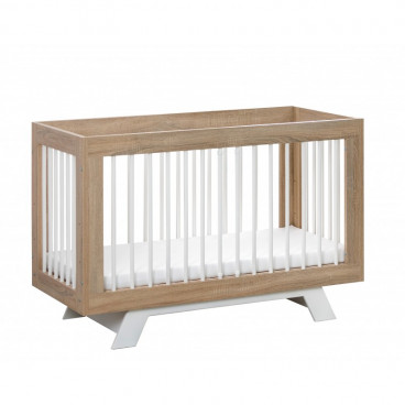 Babycute Ξύλινο Κρεβάτι Laura White 60 X 120 cm BR001