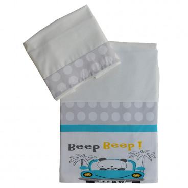 Bebe Stars Σετ Σεντόνια Beep Beep 3001