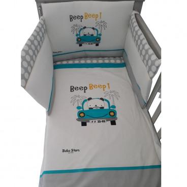 Bebe Stars Σετ Προίκας Κρεβατιού Με Τύπωμα Beep Beep 3000