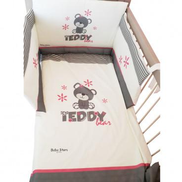 Bebe Stars Σετ Προίκας Κρεβατιού Με Τύπωμα Teddy Flower 3010