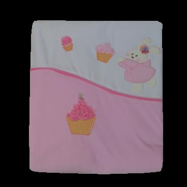 Bebe Stars Κουβέρτα Βελουτέ  Αγκαλιάς Cupcake 3025