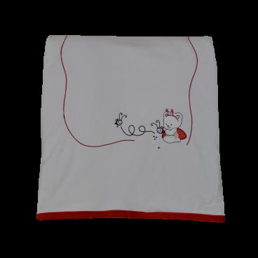 Bebe Stars Κουβέρτα Βελουτέ  Αγκαλιάς Red Bee 3035