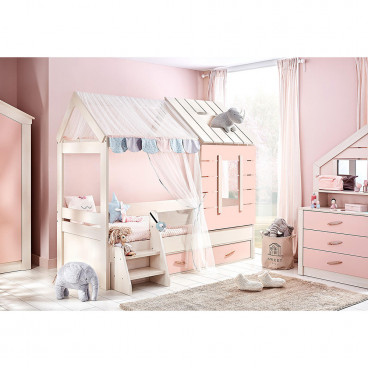 Bebe Stars Κρεβάτι Παιδικό Pink House 425-07