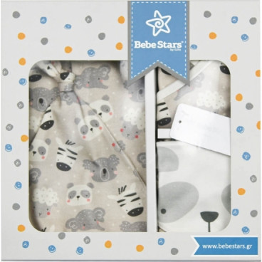 Bebe Stars Σετ Δώρου 5Τμχ.  0-6M Panda 3129