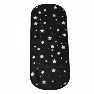 Bebe Stars Κάλυμμα Καροτσιού Μαλακό Stars Black 208-188