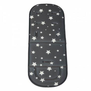 Bebe Stars Κάλυμμα Καροτσιού Μαλακό Stars Dark Grey 208-187