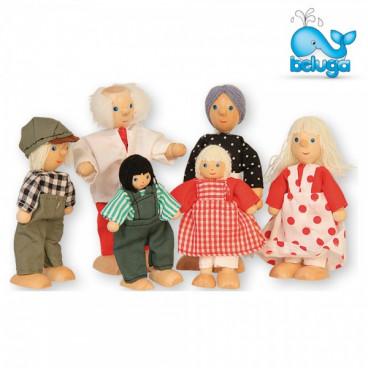 Beluga Σετ Ξύλινες Κούκλες 6 Τμχ. 70134