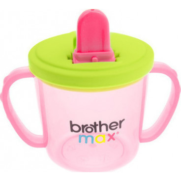 Brother Max Εκπαιδευτικό Ποτηράκι Flip And Go Cup Pink Green 200ml 49806