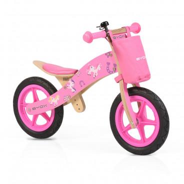 Byox Ποδήλατο Εκμάθησης Ισορροπίας Ξύλινο Woody Pink 3800146255701