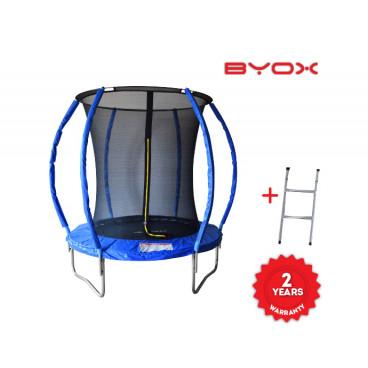 Byox Τραμπολίνο Με Δίχτυ Και Σκάλα 183 cm 3800146226411