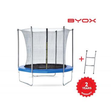 Byox Τραμπολίνο Με Εσωτερικό Δίχτυ Και Σκάλα 244 cm 3800146225940