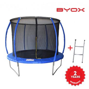 Byox Τραμπολίνο Με Δίχτυ Και Σκάλα 304 cm 3800146226435