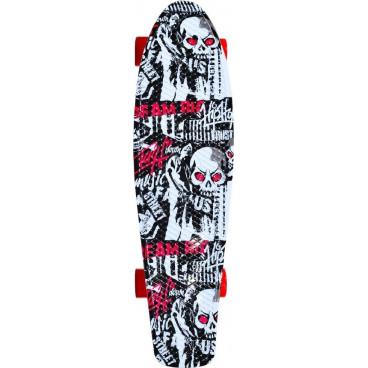 Byox Πατίνι Skateboard 22'' Skull Led  3800146226169