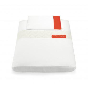 Cam Παπλωματοθήκη Και Μαξιλαροθήκη Για το Λίκνο Cullami Bianco Rossa 926-144