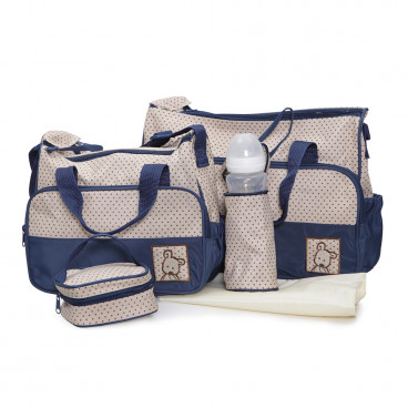 Cangaroo Σετ Βρεφική Τσάντα Με Τσάντα Αλλαξιέρα Stella Dark Blue 3800146260248