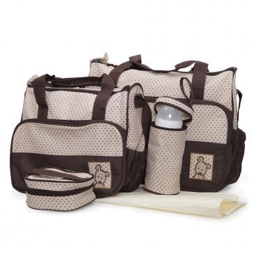Cangaroo Σετ Βρεφική Τσάντα Με Τσάντα Αλλαξιέρα Stella Brown 3800146260231