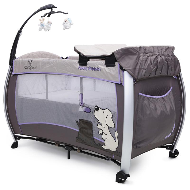 Cangaroo Παρκοκρέβατο Funny Dreams Purple 3800146247218