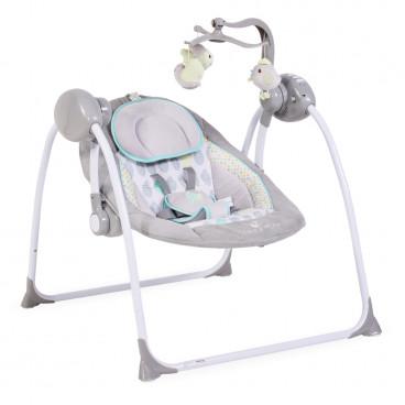 Cangaroo Ρηλάξ Κούνια Baby Swing Plus Grey 3800146247126