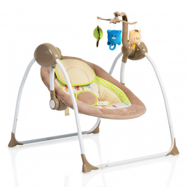 Cangaroo Ρηλάξ Κούνια Baby Swing Plus Cappucino 3800146247416
