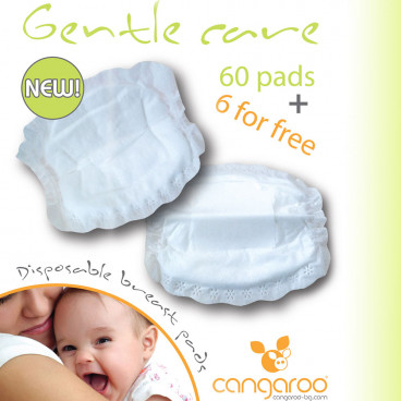Cangaroo Επιθέματα Στήθους Υποαλλεργικά Gentle Care 66 Τμχ. 3800146260149