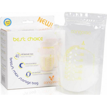 Cangaroo Σακουλάκια Αποθήκευσης Μητρικού Γάλακτος Best Choise  44 Τμχ. 3800146261023