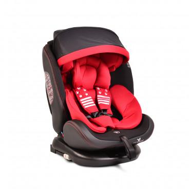 Cangaroo Κάθισμα Αυτοκινήτου Pilot Isofix, 0-36kg Red Leather 3800146239466
